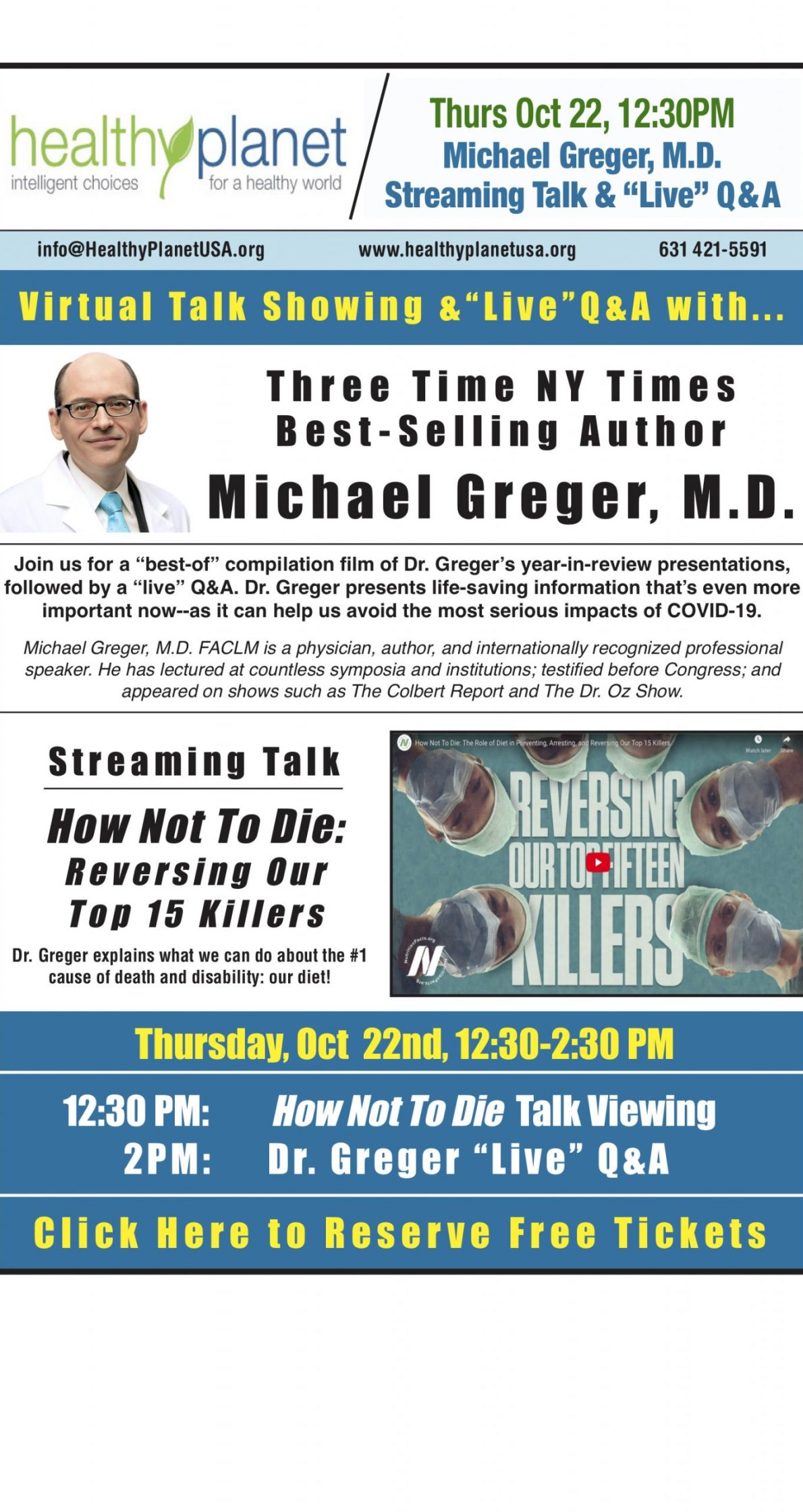 10-22-20 WEB Michael Greger & How Not To Die Film